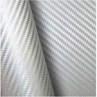 Adesivo Fibra De Carbono Prata Envelopamento 50x138cm Fosco