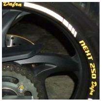 Friso Adesivo Refletivo Top Roda Moto Rec01 Dafra Next 250