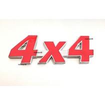 Emblema 4x4 Jeep Cherokee Wrangler Willys Metal-vermelho !!!