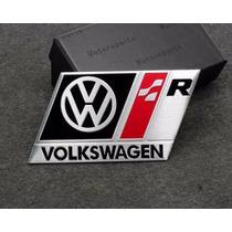 Emblema Badge Em Metal - Volkswagen R-line Mortorsports !!