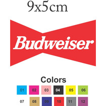 Adesivo Cerveja Beer Budweiser Vintage Plotado 9x5cm