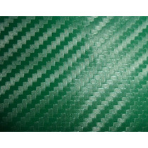 Adesivo Envelopamento Carro Moto Fibra Carbono Verde 1mx2m