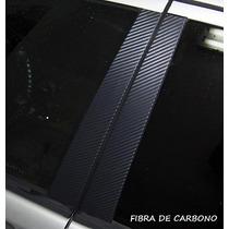 Adesivo Envelopamento Fibra De Carbono 3d P/ Coluna De Carro