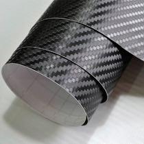 Adesivo Fibra De Carbono 50x50cm Tipo Di-noc 3d Moldável