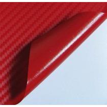 Adesivo Envelopamento Fibra Carbono Vermelha 0.5x1.5m Tuning