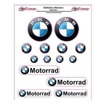 Adesivo Refletivo Moto Capacete Carro Bmw Motorrad Fretefree