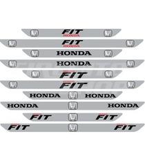 Protetor Soleira D01 Porta Carro Honda Fit + Frete Grátis