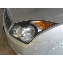 Kit Aplique Farol Mascara Negra Vinil Ford Fiesta G3