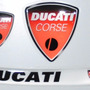 Kit Relevo 3d Viseira Capacete + 2 Logos Escudo Moto Ducati
