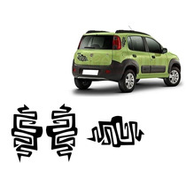 Kit 3 Adesivos Podium Tribal Way Fiat Uno Evo 2011/