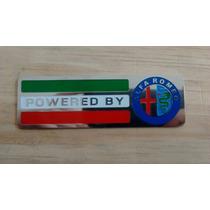 Emblema Metal Powered By Alfa Romeu Alta Qualidade!!!