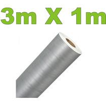 Adesivo Aço Escovado Prata Envelopamento Automotivo 3m X 1m