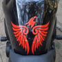 Adesivo Tribal Eagle Relevo 3d Tuning Carro Moto Bau Custom