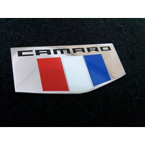 Emblema Em Metal Camaro Six Usa Gm Chevrolet 3 Pçs!!!