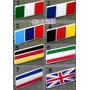 Badge Emblema Em Metal Bandeiras Alemanha França Itália !!!