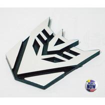 Emblema Adesivo Cromado Em Pvc Transformers Decepticons
