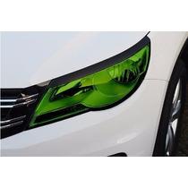 Película Adesiva Verde Para Farol E Lanterna Carro 100x30