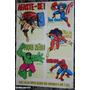 Marvel Cartela De Adesivos2 Capitão América Thor Hulk Aranha