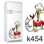 Adesivo K378 Geladeira Galinha Gordinha Cozinheira Comilona