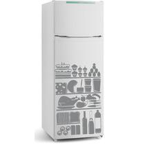 Adesivo Decorativo Parede Geladeira Box Cozinha Comidas