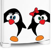 Adesivo De Geladeira Casal Pinguim Ovinho Brinde+frete