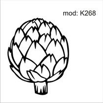 Adesivo K268 Alimentos Geladeira Verdura Repolho Abstrato