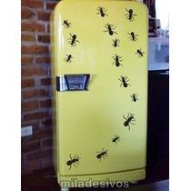 Adesivo Para Decoração De Parede Geladeira Cartela Formigas