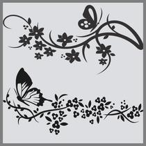 Adesivo Decorativo Parede Geladeira Móveis Floral Borboletas