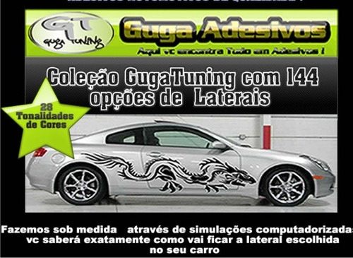 Adesivos Laterais Tuning Do Guga / Kit Completo