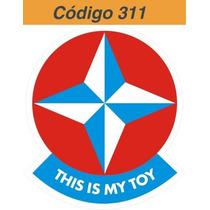 Adesivo Vinil Estrela This Is My Toy - Código 311