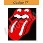 Adesivo Lingua Rolling Stones - Código 77