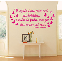 Adesivos Decorativos De Parede Frases, Borboletas, Mãe, Bebe