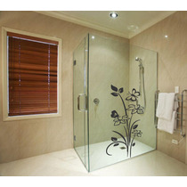 Adesivo Decorativo Parede Box Banheiro Floral Flor Borboleta