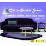Adesivo Decorativo De Parede Frases Bíblicas At16.31
