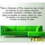 Adesivo Decorativo De Parede Frases Bíblicas Fz305