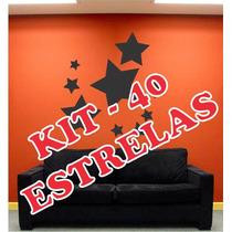 Adesivo Decorativo P/ Ambiente E Parede - Kit 40 Estrelas