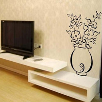 Adesivo Decorativo Vaso Florido - Tamanho Grande