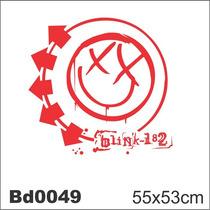Adesivo Bd0049 Blink 182 Banda Rock Decoração Parede