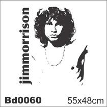 Adesivo Bd0060 Jim Morrison Rock Decoração Parede