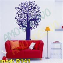 Adesivo Decorativo Mod D141 - Planta Ninho Passarinho Casa