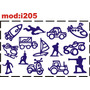 Adesivo I205 Foguete Foguetinho Carro Carrinho Moto Motinha