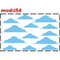 Adesivo I54 Nuvens Nuvenzinhas Quarto Menino Meninha Adesivo