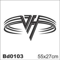 Adesivo Bd0103 Van Halen Rock Decoração Parede