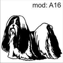 Adesivo A16 Cachorro Raça Maltes Decoraçao Parede