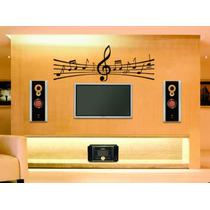 Adesivo De Parede Decorativo Nota Musical Grande Sala Quarto