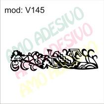 Adesivo V145 Desenho Abstrato Mistico Folhas Flores Arranjos