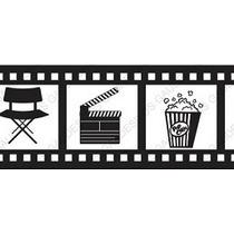Adesivo De Parede Decorativo Cinema Vários Tema Filmes Lindo
