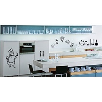 Adesivo Decorativo Kit Cozinha E Geladeira - 10 Adesivos