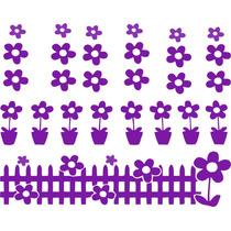 Adesivo Decorativo De Parede Infantil Flores Floral