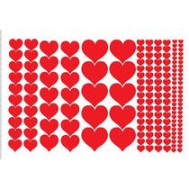 Adesivo De Parede Decorativo Kit Com 164 Coração Decore Casa